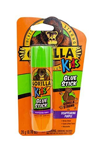 - Gorilla Kids Disappearing Purple Glue Stick, 20 gram Stick, Pack of 1