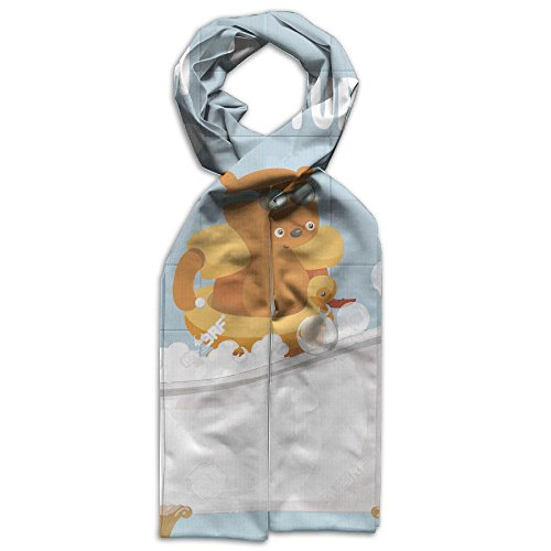 Price comparison product image Bath Tub Bear Gift Functional Smooth Youth Polyester Scarf