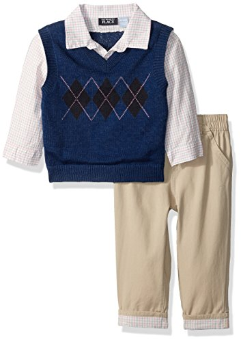 Baby Boys' Dressy Clothing Set, Blue 73054, 0-3 Months (Childrens Place Sweater Vest)