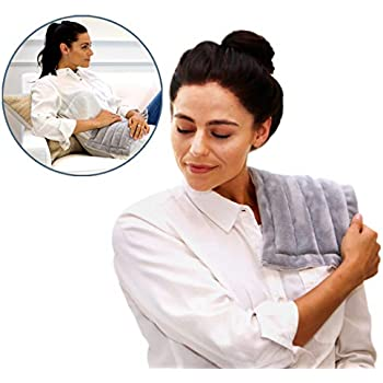Heating Pad Solutions Microwavable Buddy - Portable Heating Pad for Cramps, Arthritis, Joints Pain, Soring Muscles & Aching Feet   Versatile Reusable Microwavable Hot Pack for Natural Pain Relief