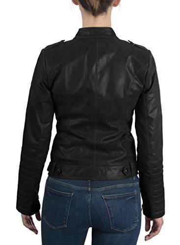 Revers 9000 Zalla Vritable Blouson Femme Cuir Col en Black en Desires Moto Vritable Cuir Veste z6qz7dw1