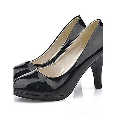Ggx/femme Chaussures PU d'été talons talons décontracté Chunky Talon d'autres Noir/rouge/blanc
