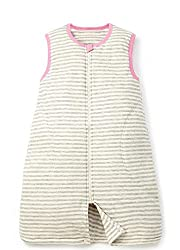 Mamaway Unisex-baby Outlast Optimal Temperature Sleeping Bag Suit - Pink/Grey Stripe - Small