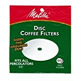 Melitta 3.5 Inch White Disc Coffee Filters (Pack of 2)