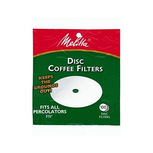 Melitta 3.5 Inch White Disc Coffee Filters (Pack of 2) by Melitta (Image #1)