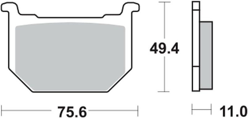 vorne Bremsbel/äge TRW MCB 509 f/ür SUZUKI GSX 400 E GK53C 82-84