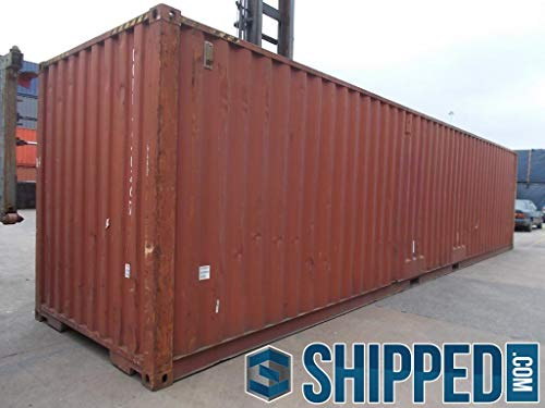 (Shipped Will Deliver in Atlanta, Georgia 40 ft High Cube Wind and Water Tight General Purpose Shipping Container/Secure, Large, Outdoor, Portable Storage Shed/Cargo)