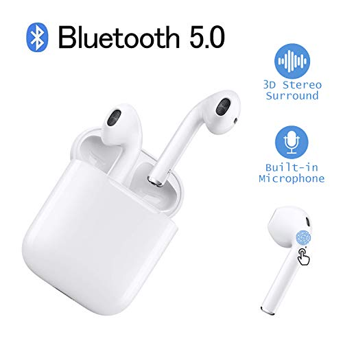 Bluetooth Headsets Wireless Headsets 5.0 Headset Bluetooth in-Ear Earphone Wireless Stereo in-Ear Handsfree for Apple Airpods Android/iPhone ...