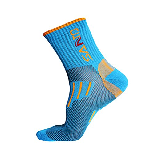 Panda Superstore [Blue] Absorbent Hiking Socks Women Coolmax Sports Socks One Size M(8.6-9.8'') by Panda Superstore