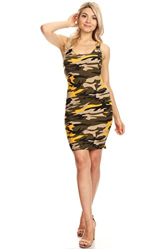 Womens Casual Sexy Racer-Back Mini Bodycon Dress/Made in USA