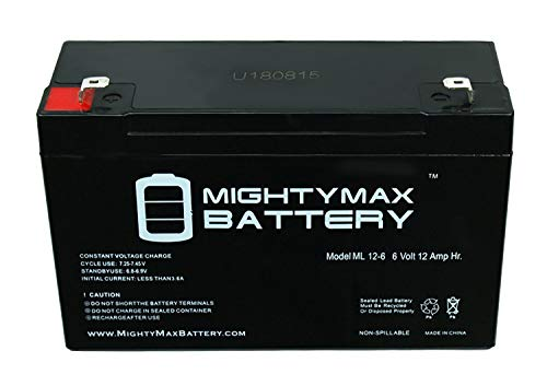 Mighty Max Battery 6V 12AH F2 SLA Battery for LITHONIA Emergency Exit Light - 6 Pack Brand Product by Mighty Max Battery (Image #2)
