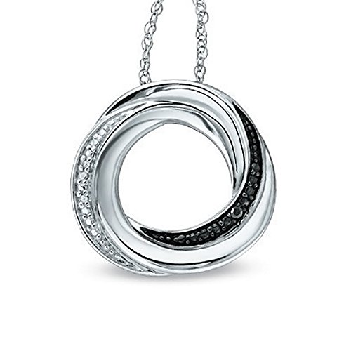 Diamond Accent Circle Pendant - 2