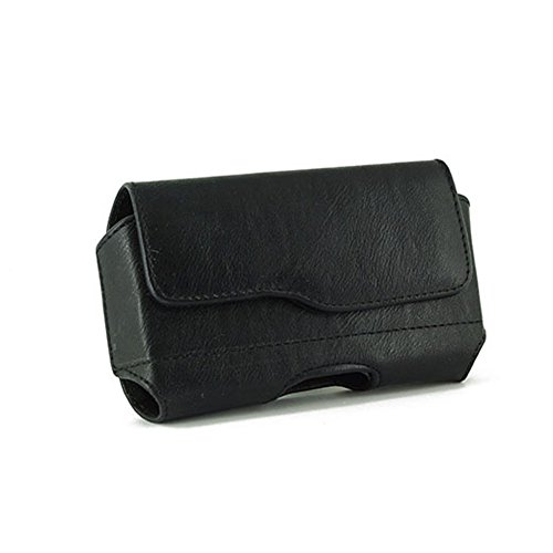 - Black Color Horizontal Leather Cover Belt Clip Side Magnetic Closing Case Pouch Holster For Apple iPhone 2G 3G 3GS 3G-S 4 4S 4-S