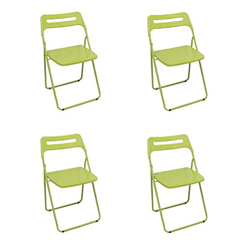 Series Triple-Brace Steel Folding Chair Dining Room Kitchen Multi-Purpose Table Commercial Foldable Conference Home Office Chairs Comfort Carrying Frame Cushioned (Pack of 4)