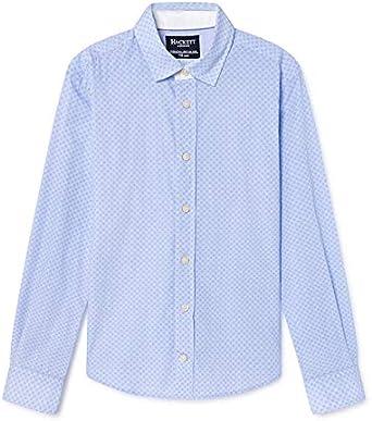 Camisa Hackett Textura Azul Niã±o: Amazon.es: Ropa y accesorios