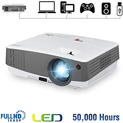 Portable Mini Projector 2600 Lumens HDMI LED LCD Small Video Projectors Support 720P Full HD 1080P Wuxga Home Theater Multimedia Outdoor Movie ...
