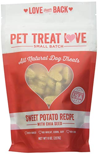 Pet Treat Love PTL-SP Sweet Potato Cranberry Dog Treats (1 Pouch), Large/One Size ()