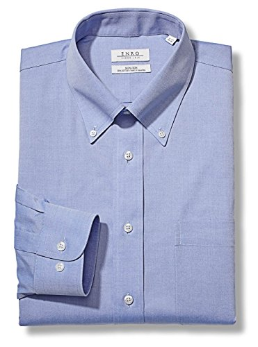 Enro Men's Pinpoint Solid BD Dress Shirt (Medium Blue, (16 x 32/33) Enro Pinpoint