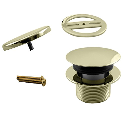 Westbrass Mushroom Tip-Toe Tub Trim Set with Floating Faceplate, Polished Brass, D398RK-01 by Westbrass