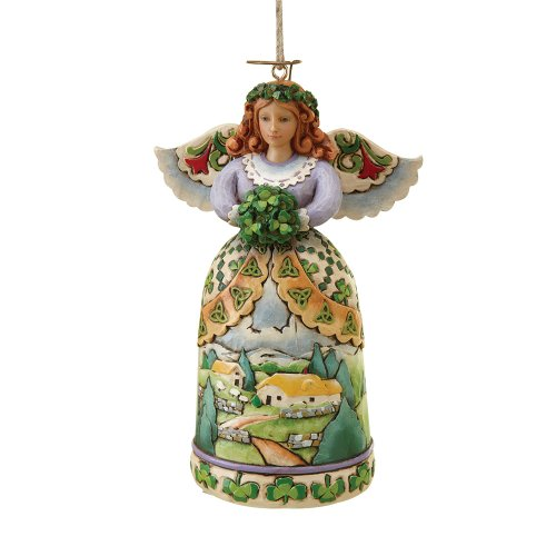 Enesco Jim Shore Heartwood Creek from Irish Angel Ho 4.75 in (Irish Angel Ornament)
