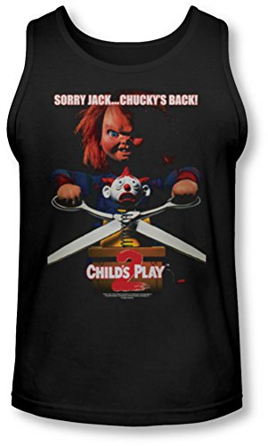 Childs Play 2 - - Männer Chuckys Zurück Tank-Top, Large, Black