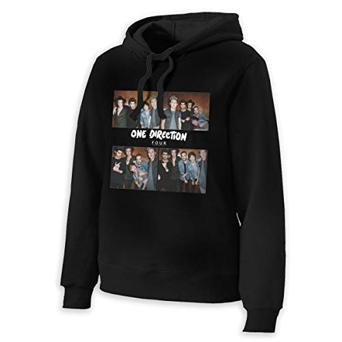 Women One Direction Four Fashionable Music Band Long Sleeves Hoody L Gift Black