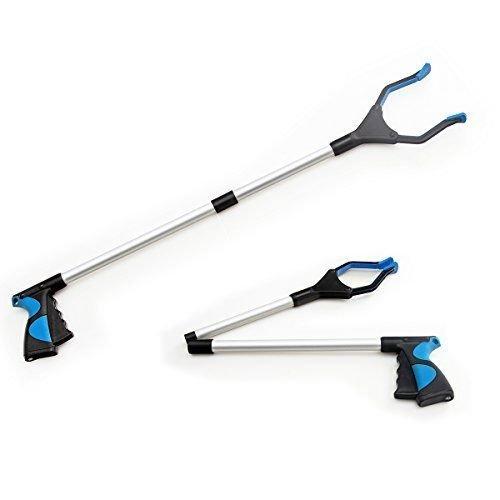 """TBBSC Foldable Reacher Grabber Pick up Tool - Grabber Suction 32"""" Long Heavy Dut"""