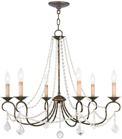 Livex Lighting 6516-71 Pennington 6 Light Chandelier, Hand Applied Venetian Golden Bronze
