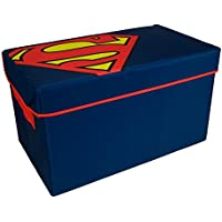 Superman Toy Chest by Everything Mary | DC Comics Collapsible Organizer Bin for Bedrooms, Closet Storage, Children Toy Box, Nursery Storage | Store Stuffed Animals, Games, Clothes, Shoes