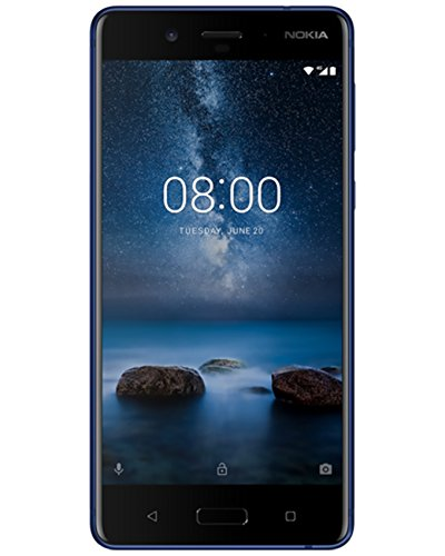 Nokia 8 Ta 1052 Ds 64Gb 4Gb 5 3  Wqhd   Factory Unlocked International Version Gsm Smartphone   No Cdma   No Warranty In The Us  Tempered Blue
