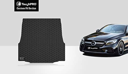 ToughPRO Cargo/Trunk Mat Compatible with Mercedes-Benz C Class (Coupe) - All Weather - Heavy Duty - (Made in USA) - Black Rubber - 2015, 2016, 2017, 2018, 2019
