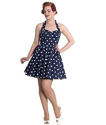 Polka Dot Halter Mini Dress
