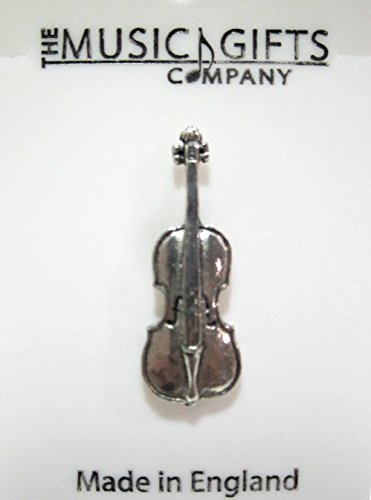 Handcrafted Pewter Pin - Cello