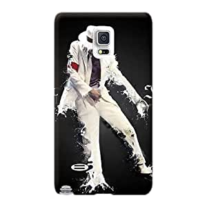 Perfect Hard Cell-phone Cases For Samsung Galaxy Note 4 (rTE6558siQT) Custom Vivid Michael Jackson Air Pattern