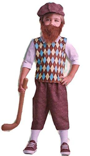 Dept 18 Toddler Boys Lil' Bearded Boys Golfer Costume Halloween, Toddler (Toddler Golfer Halloween Costume)