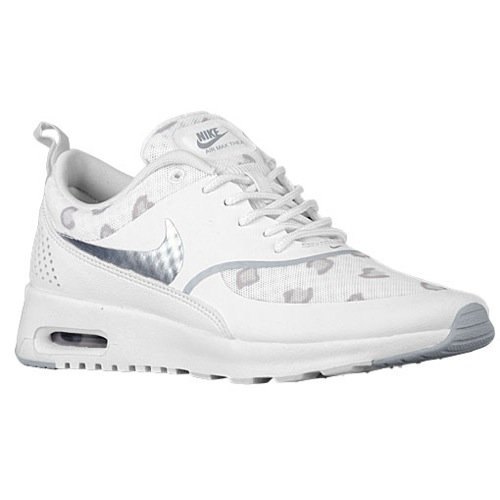 Nike Air Max Thea Print Womens Running Shoes 599408-101 White Pure Platinum-Bamboo-Wolf Grey 6.5 M US