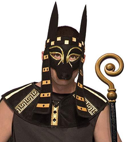 Forum Novelties Mystical Creature Anubis Mask Men's Costume Accessory Black Dog Egypt Egyptian Roman -