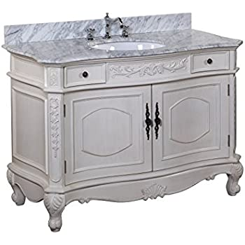 Kitchen Bath Collection KBCD38CARR Versailles Bathroom Vanity With Marble  Countertop, Cabinet With Soft Close Function And Undermount Ceramic Sink,  ...