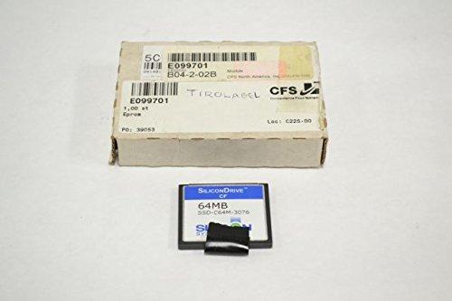 NEW SILICON SSD-C64M-3076 COMPACTFLASH CARD 64MB DRIVE CF MEMORY B227412