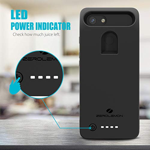 Google Pixel 3 XL Battery Charging Case, ZeroLemon Ultra Power 8500mAh Extended Rechargeable Battery with Soft TPU Case for Google Pixel 3 XL - Black by ZEROLEMON (Image #3)