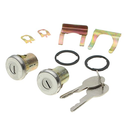Baoblaze 2 Pieces Car Door Anti-theft Lock w/2 Keys & 2 Locks for Chevrolet Truck