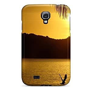 Fashionable NwVbBCm5733cIkxE Galaxy S4 Case Cover For Bird Joins Girl To Watch Sunrise Protective Case