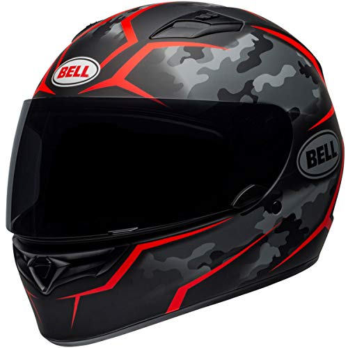 Bell Qualifier Full-Face Motorcycle Helmet (Stealth Camo Matte Black/Red, Medium) - Parts Cheek Pads Replacement