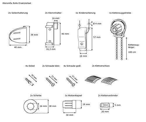 Ricambi Per Tende A Rullo.Victoria M Set Di Pezzi Di Ricambio Tenda A Rullo Standard Inclusa Catena 600 Cm Bianco