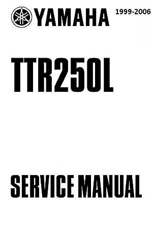 yamaha ttr250 1999 2006 workshop repair service manual pdf