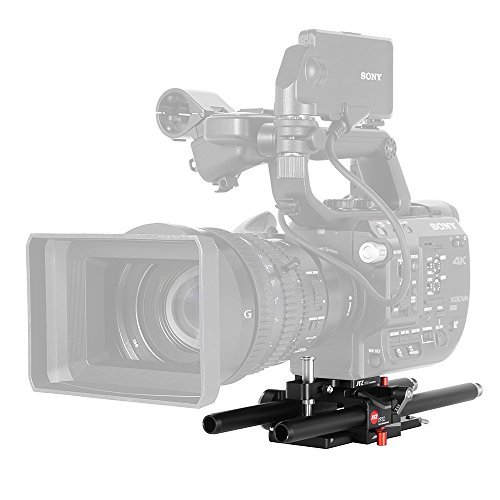 JTZ DP30 Baseplate Rig 15mm Rod Support For SONY FS5 PXW-FS5 Camera With JTZlink by JTZ