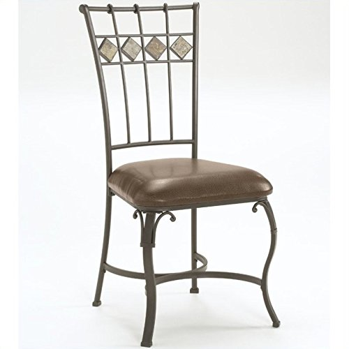 Hillsdale Lakeview Dining Chairs, Slate and Metal Finish, Set of 2