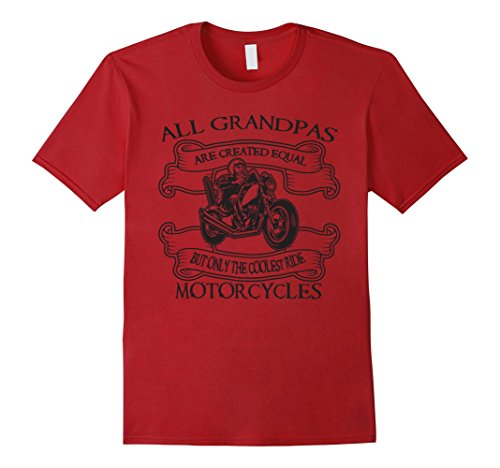 Mens Motorcycle grandpas are cool Tee shirt XL Cranberry