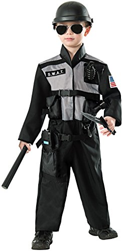Kids Special Ops Costume (Forum Novelties S.W.A.T. Jumpsuit Costume, Large)