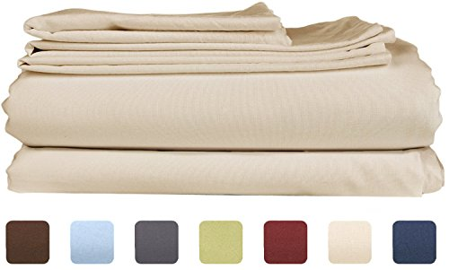 Queen Size Sheet Set - 6 Piece Set - Hotel Luxury Bed Sheets - Extra Soft - Deep Pockets - Easy Fit - Breathable & Cooling Sheets - Wrinkle Free - Comfy - Tan - Beige Bed Sheets - Queens Sheets - 6 PC (Ivory Fleece Sheet Set)